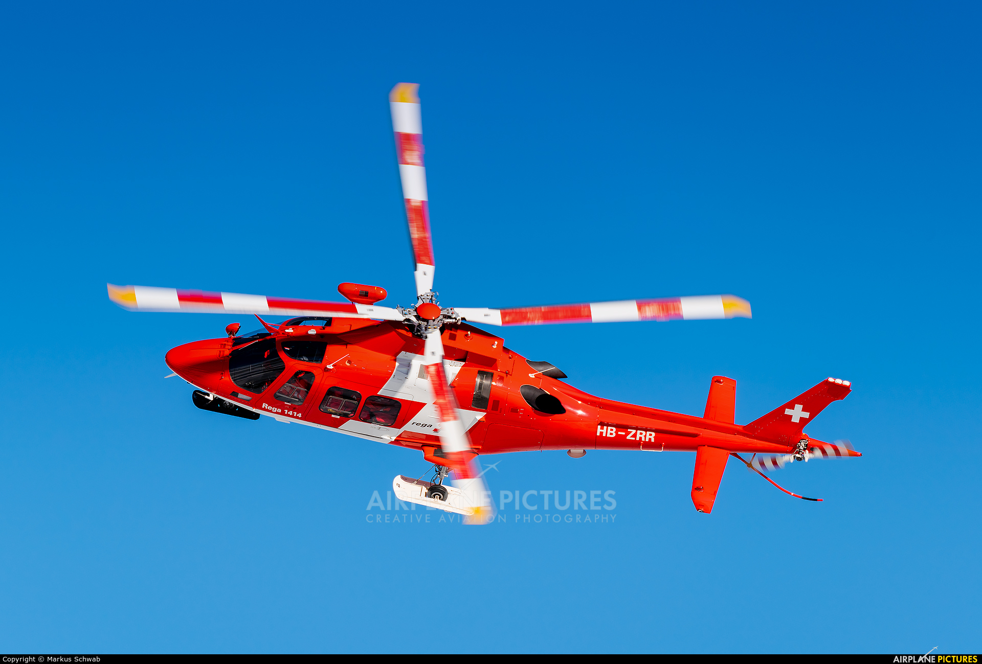 REGA Swiss Air Ambulance  HB-ZRR aircraft at Samedan - Engadin