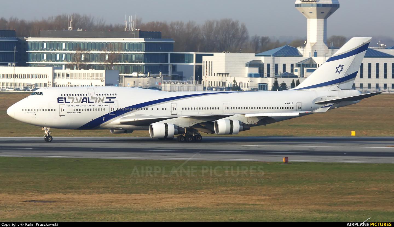 El Al Israel Airlines 4X-ELD aircraft at Warsaw - Frederic Chopin