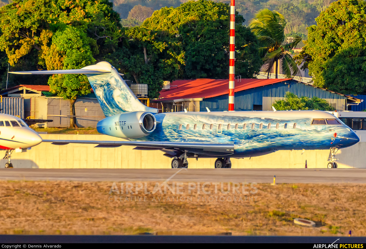 Private N117TF aircraft at San Jose - Juan Santamaría Intl