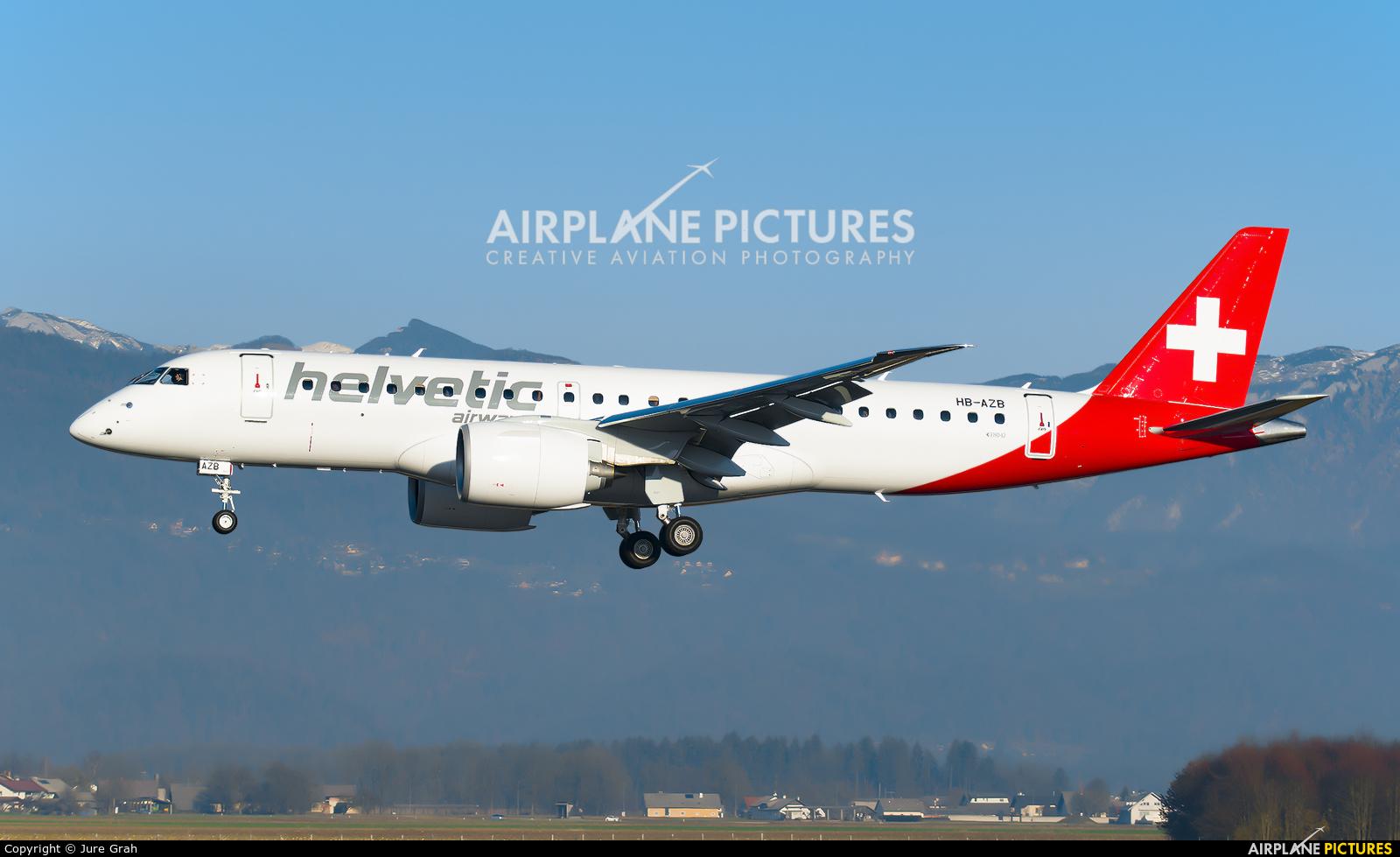 Helvetic Airways HB-AZB aircraft at Ljubljana - Brnik