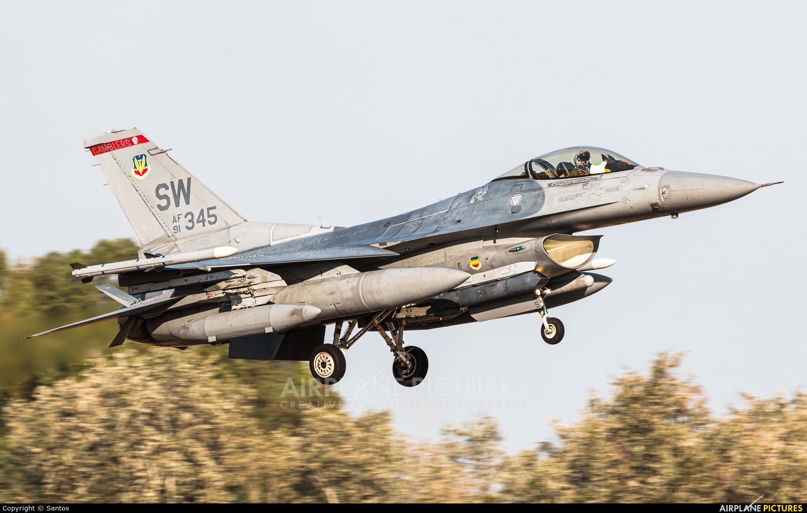 USA - Air Force 91-0345 aircraft at Seville - Moron de la Frontera