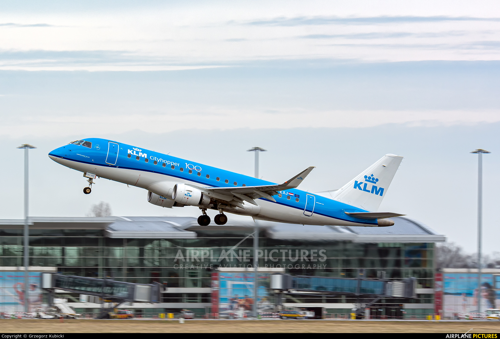 KLM Cityhopper PH-EXJ aircraft at Wrocław - Copernicus