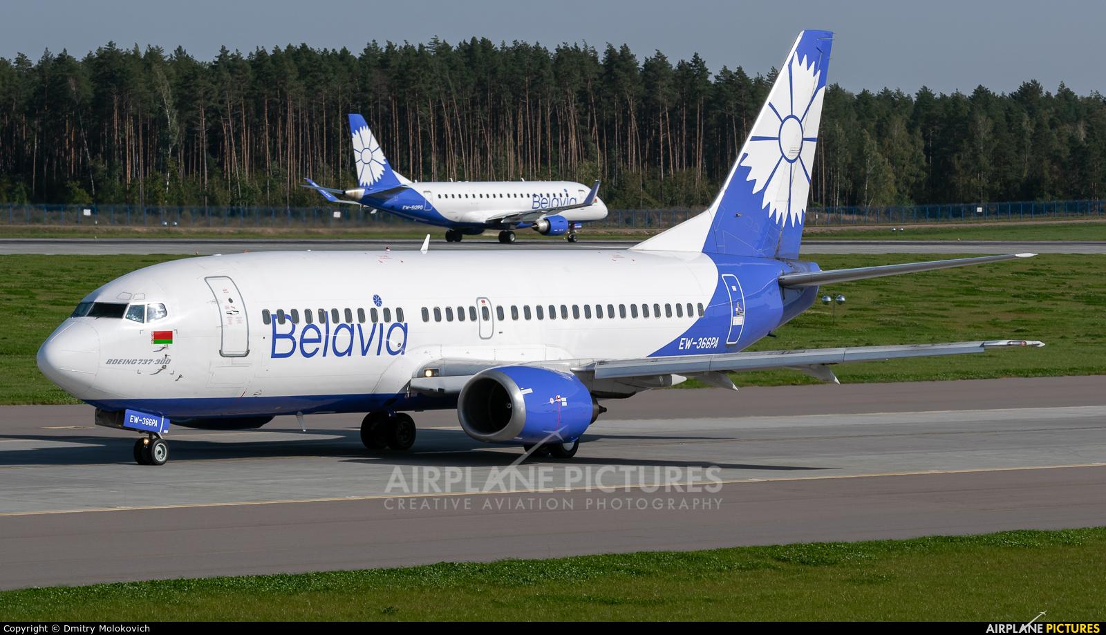 Belavia EW-366PA aircraft at Minsk Intl