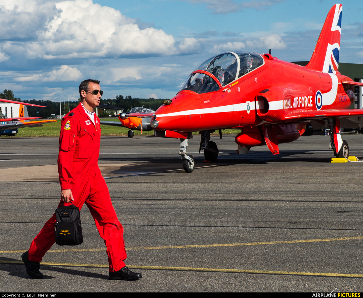 "Royal Air Force ""Red Arrows"" XX245 aircraft at Kauhava"