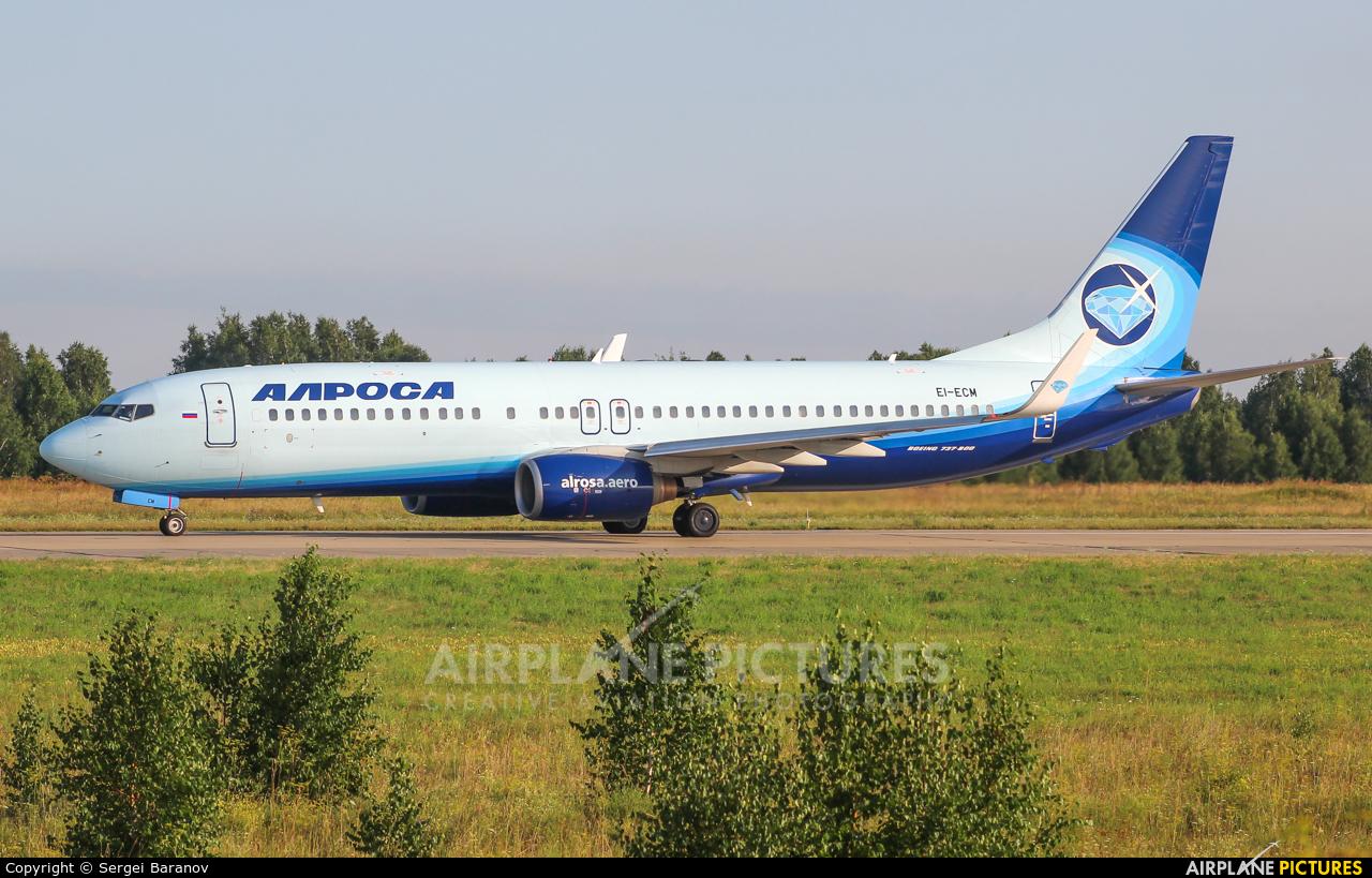 Alrosa EI-ECM aircraft at Kemerovo