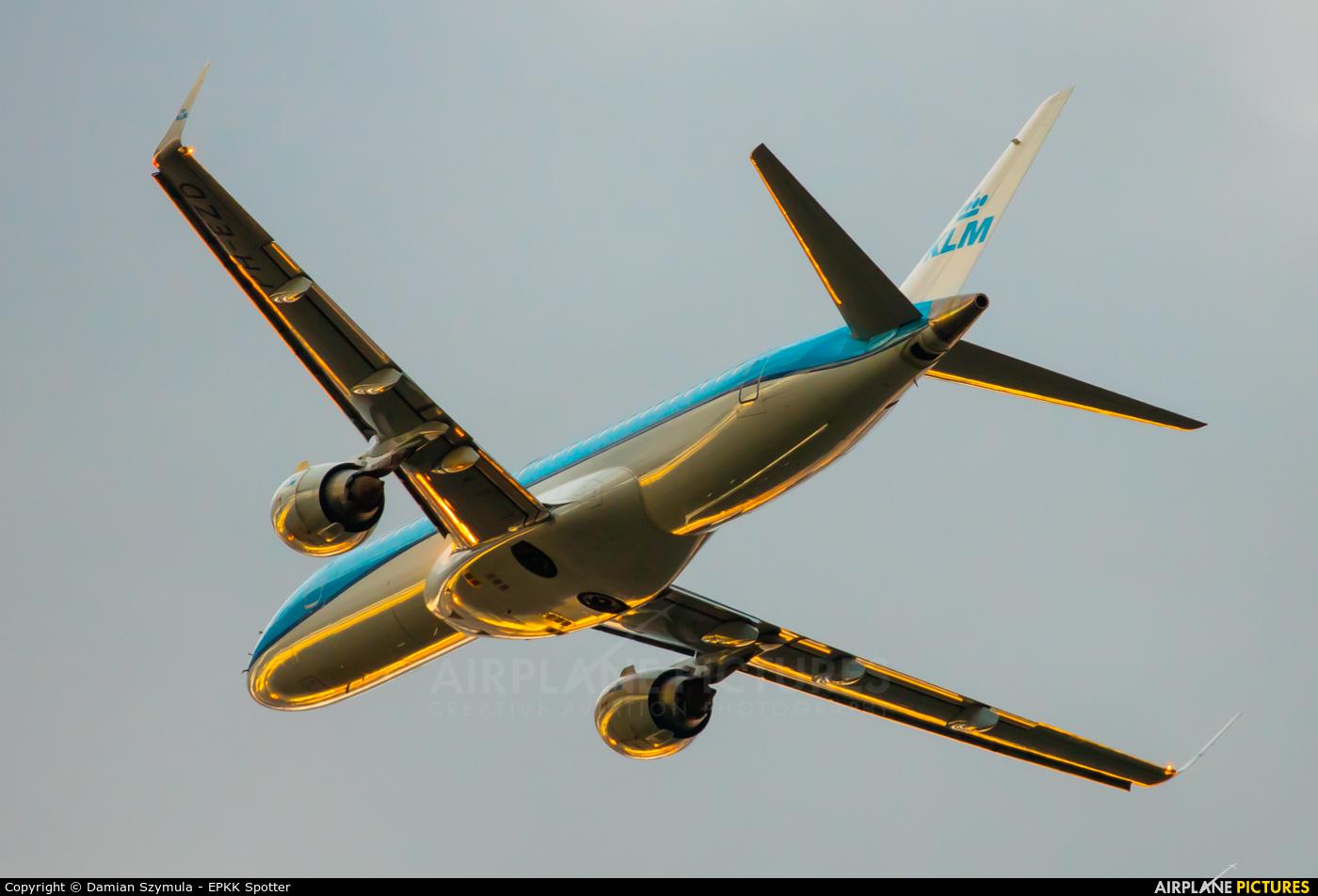 KLM Cityhopper PH-EZD aircraft at Kraków - John Paul II Intl