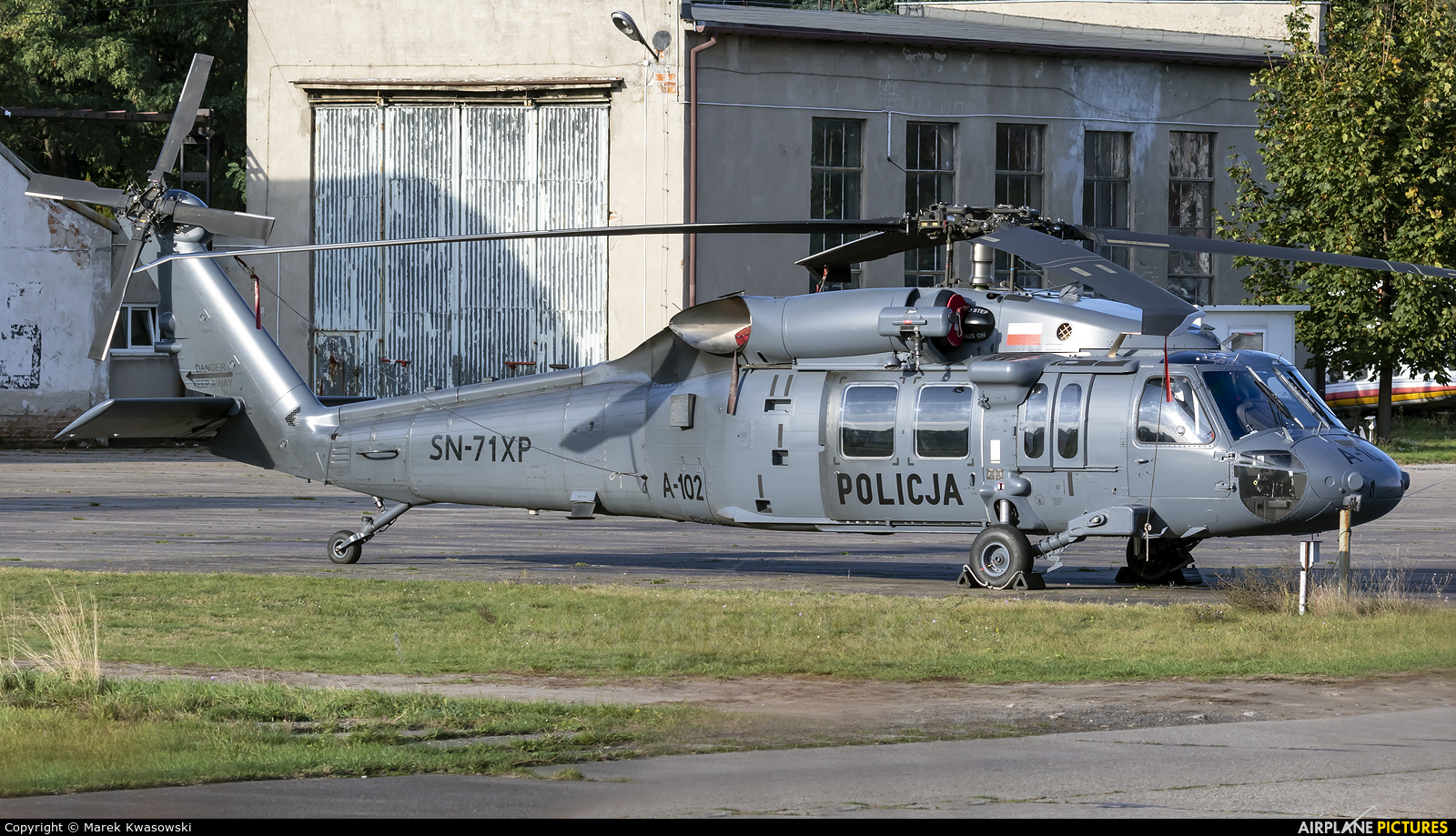 Poland - Police SN-71XP aircraft at Warsaw - Babice