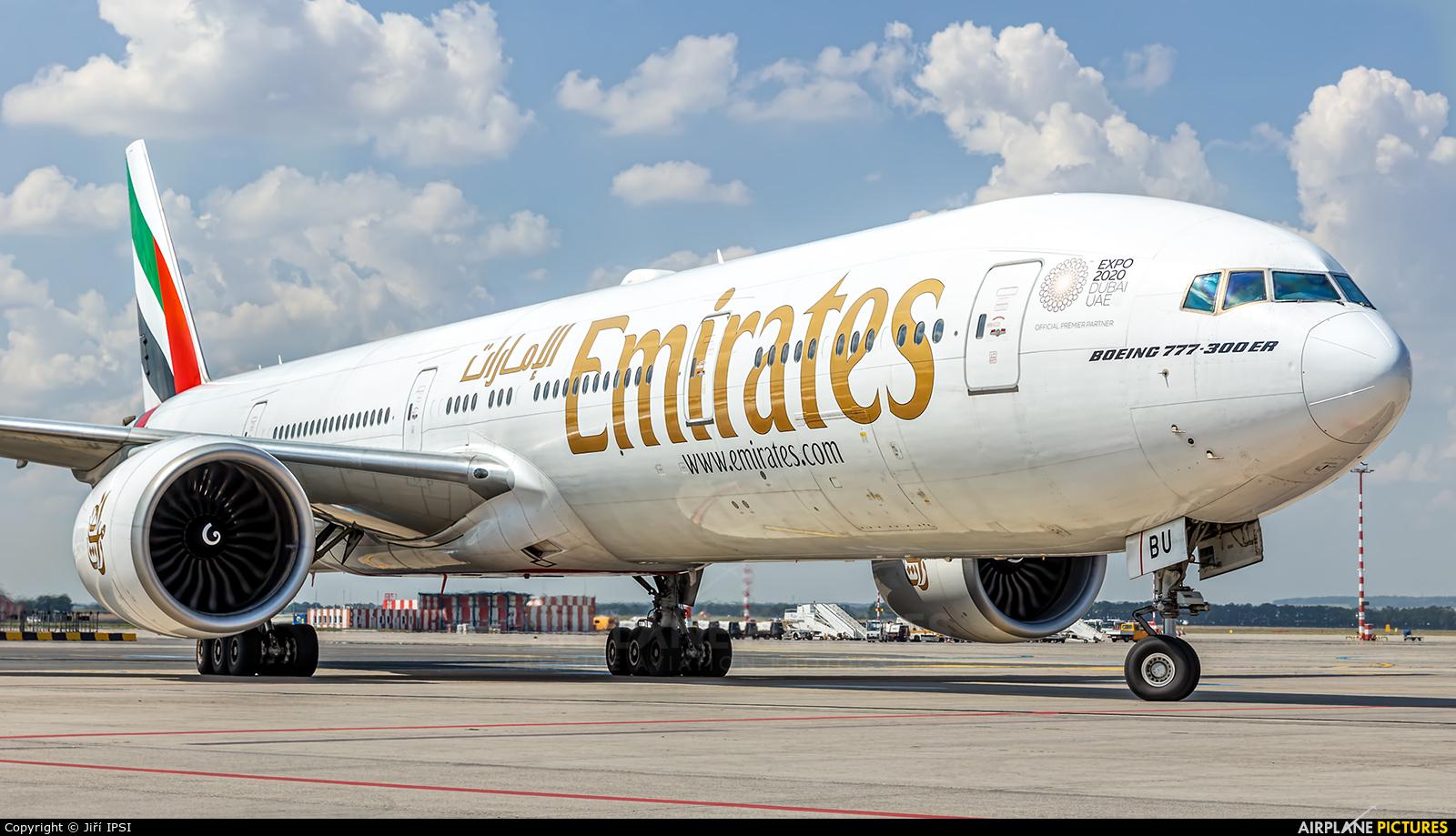 Emirates Airlines A6-EBU aircraft at Prague - Václav Havel