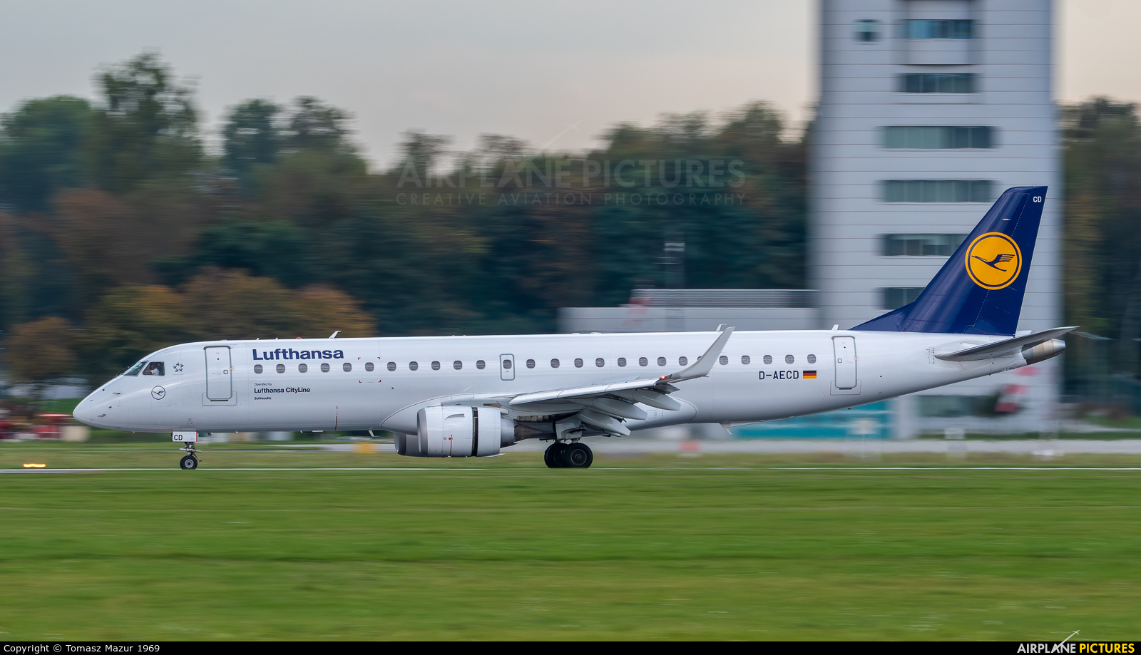 Lufthansa Regional - CityLine D-AECD aircraft at Kraków - John Paul II Intl
