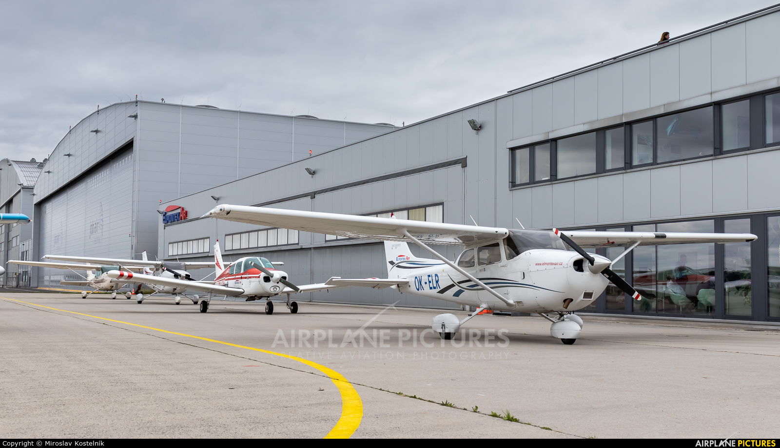 Elmontex Air OK-ELR aircraft at Ostrava Mošnov