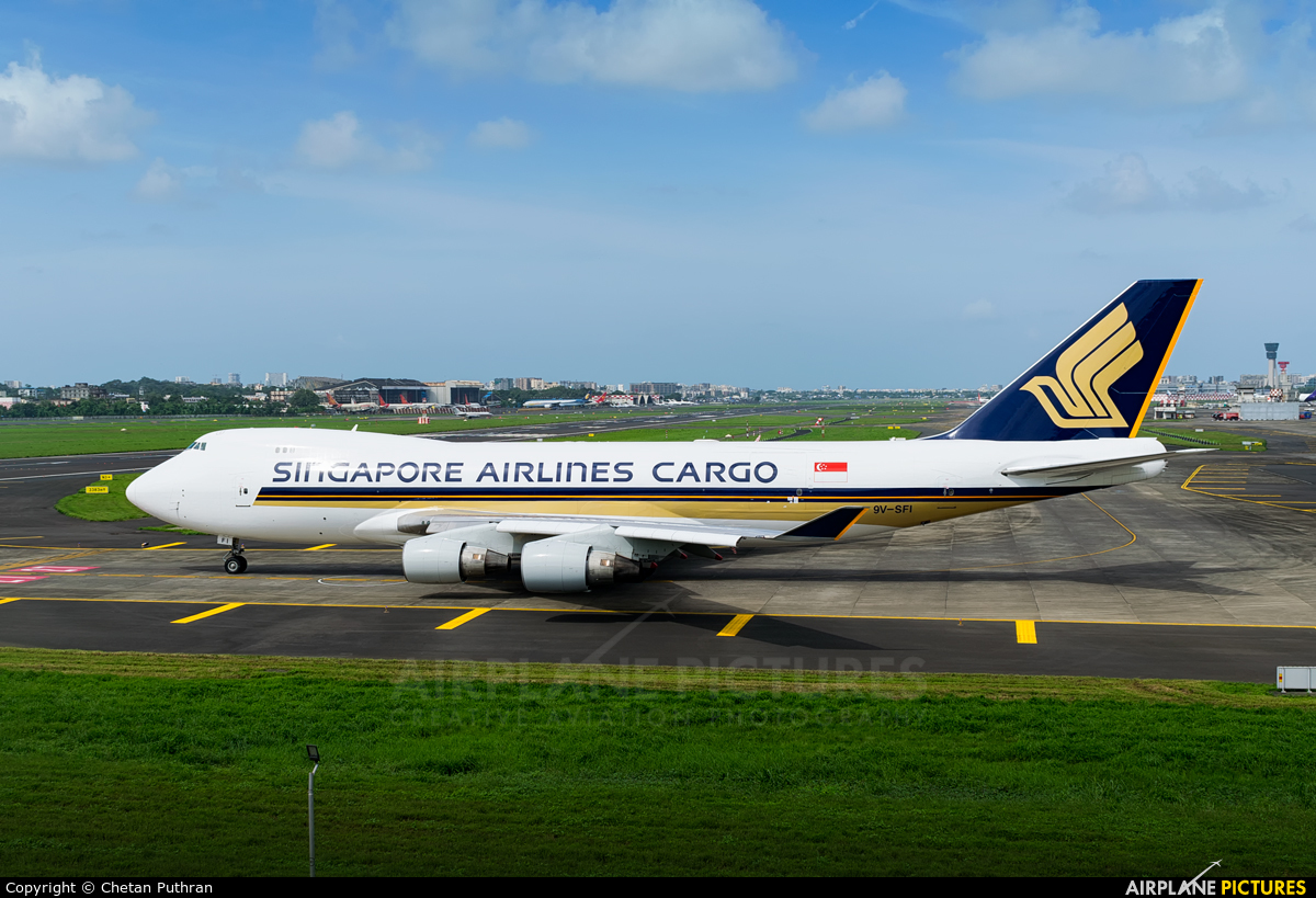 Singapore Airlines Cargo 9V-SFI aircraft at Mumbai - Chhatrapati Shivaji Intl