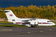 Rare visit of Royal Air Force BAe146 to Helsinki title=