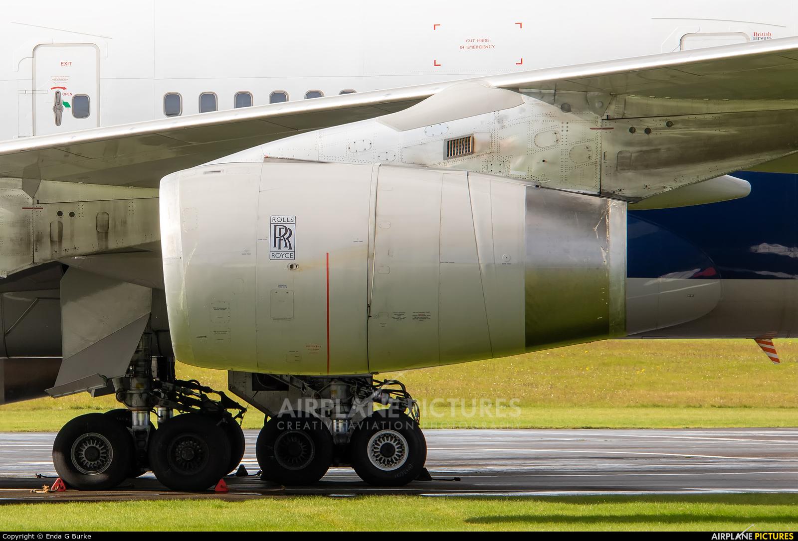 British Airways G-CIVB aircraft at Kemble
