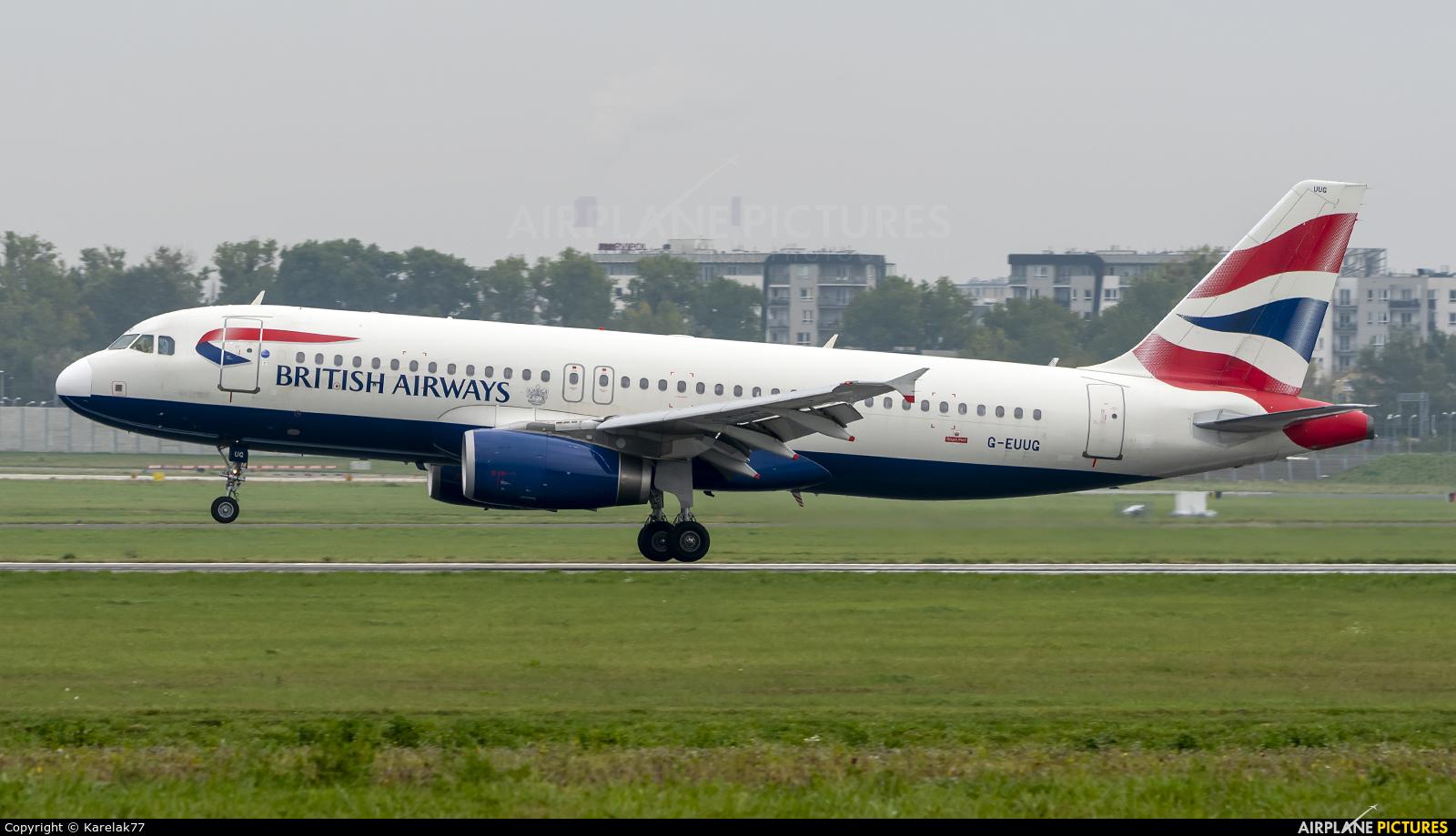 British Airways G-EUUG aircraft at Warsaw - Frederic Chopin