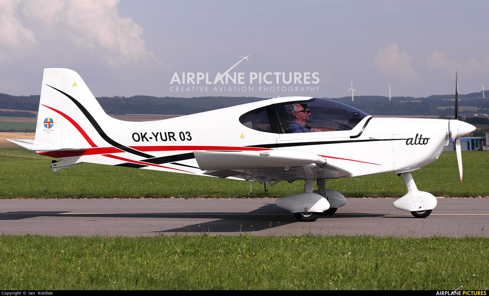 Private OK-YUR 03 aircraft at Moravská Třebová