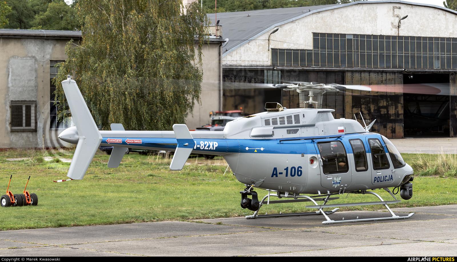 Poland - Police SN-82XP aircraft at Warsaw - Babice