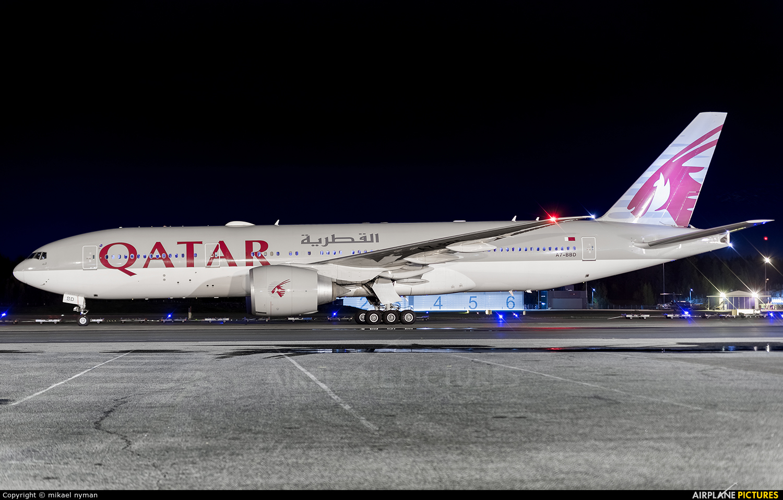Qatar Airways A7-BBD aircraft at Helsinki - Vantaa