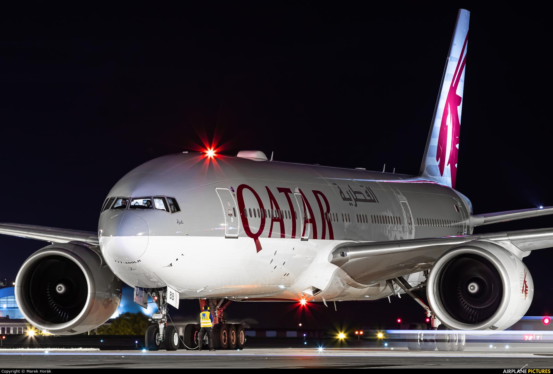 Qatar Airways A7-BBB aircraft at Prague - Václav Havel