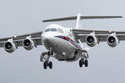Rare visit of RAF BAe146 to Prague-Kbely title=