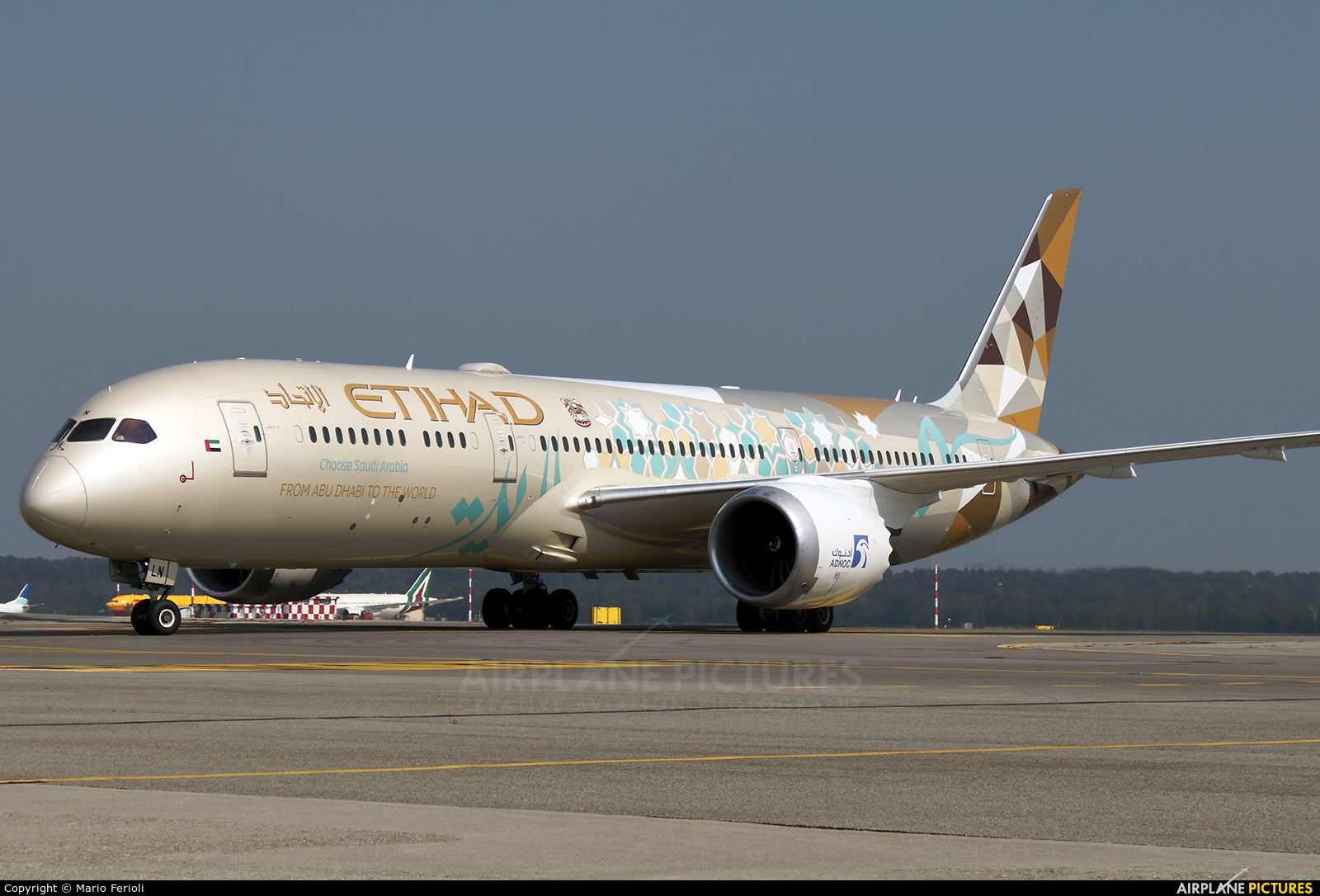 Etihad Airways A6-BLN aircraft at Milan - Malpensa