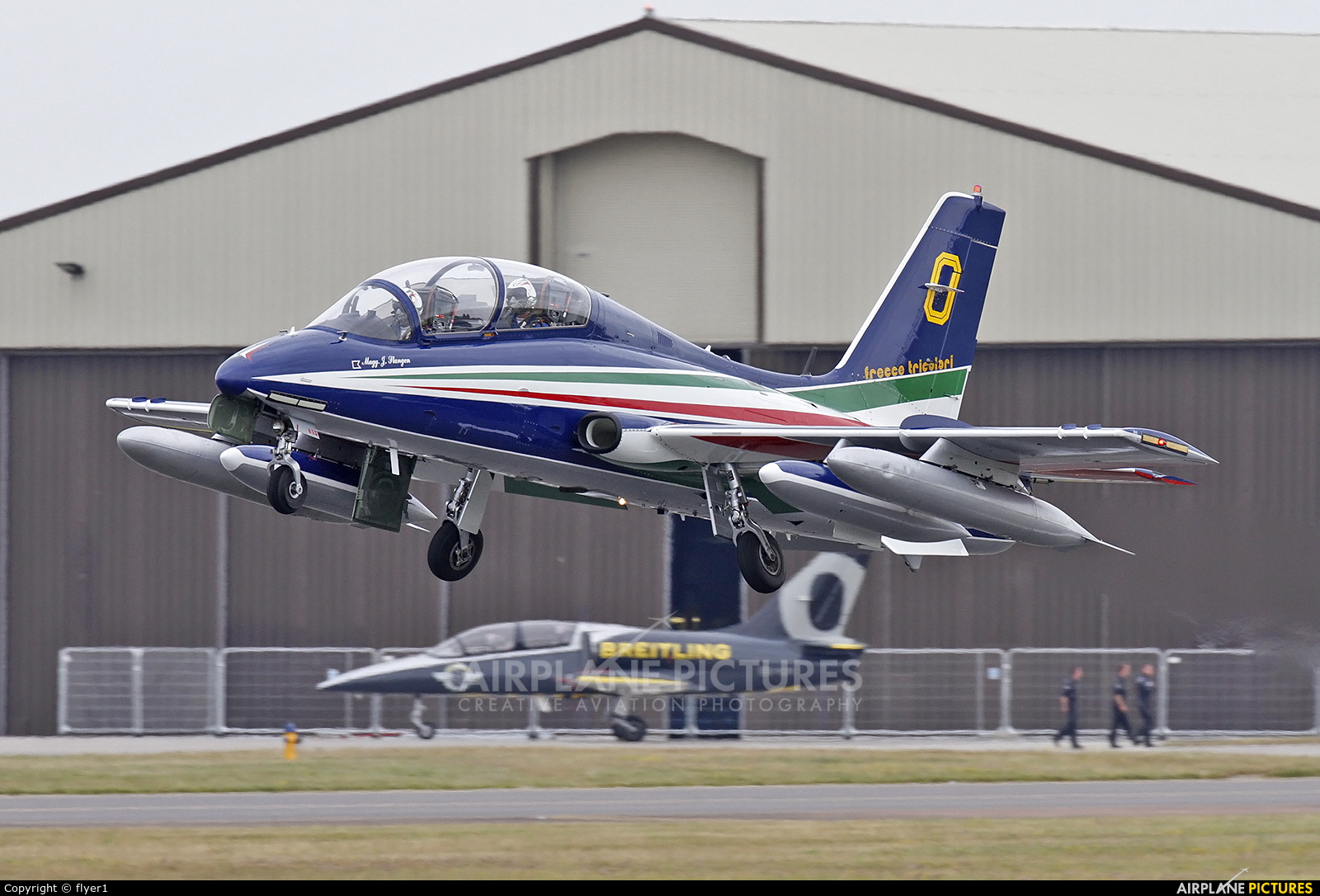 "Italy - Air Force ""Frecce Tricolori"" MM54500 aircraft at Fairford"