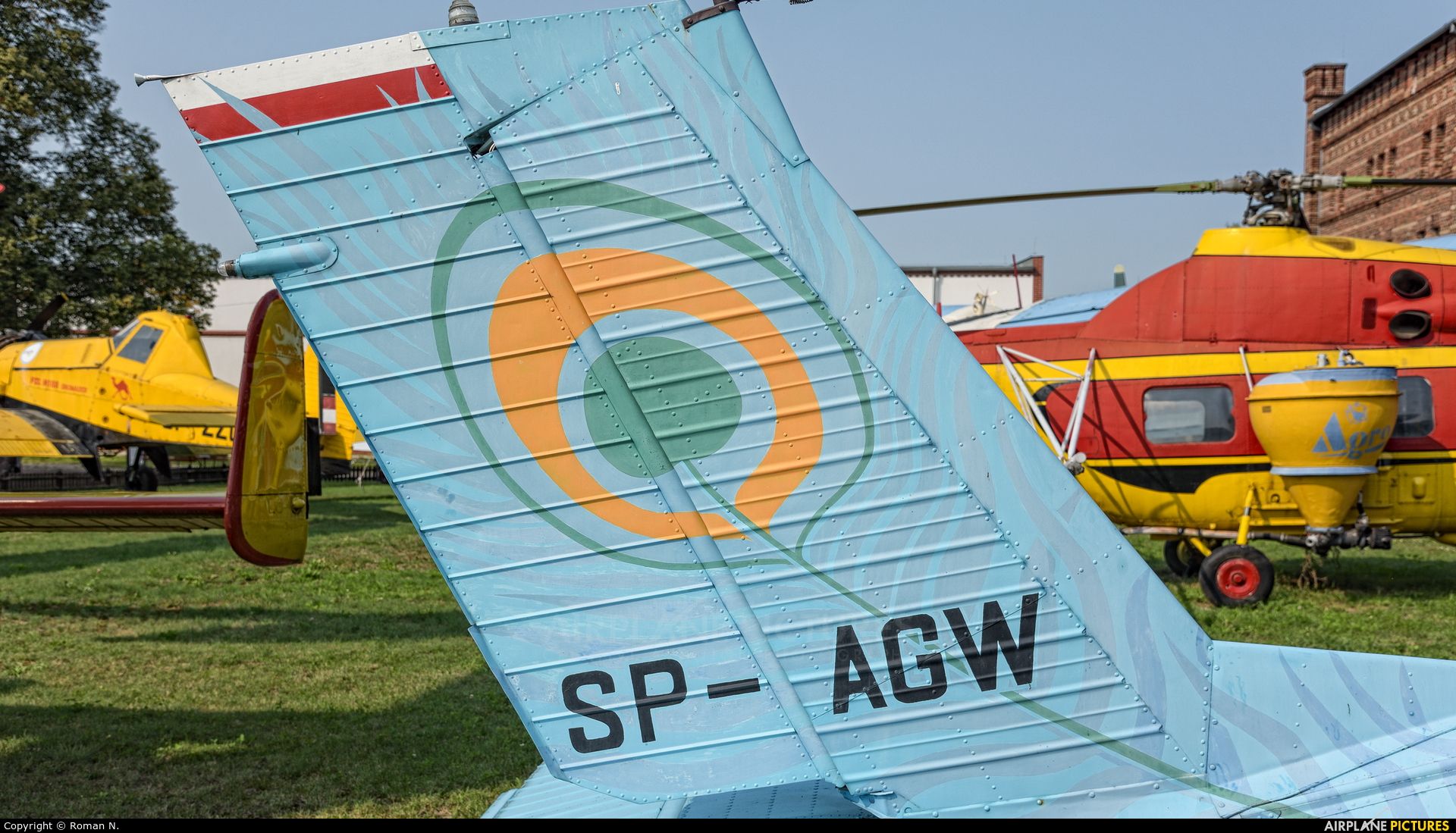 Private SP-AGW aircraft at Szreniawa, National Museum of Agriculture and Agricultural