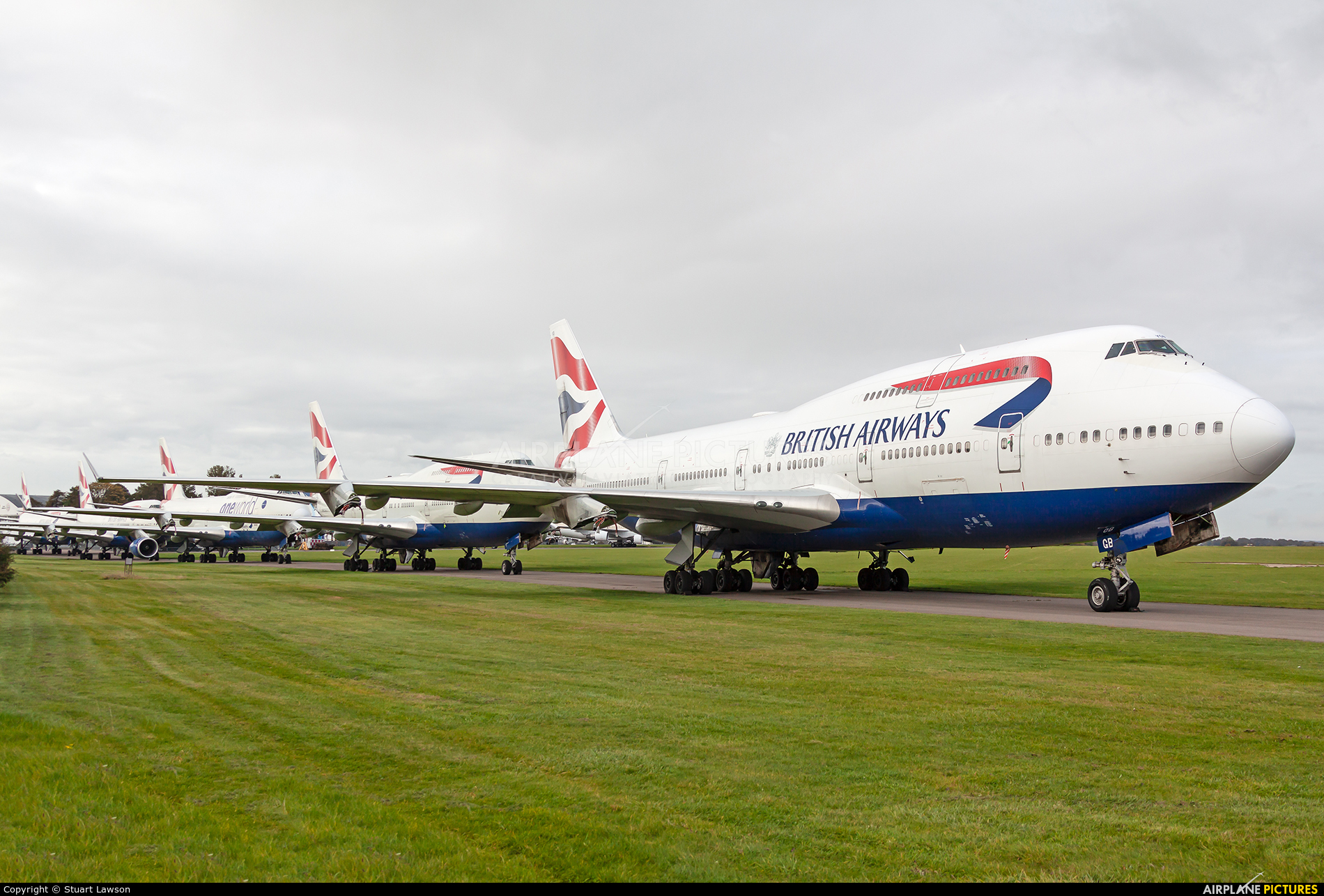 British Airways G-BYGB aircraft at Kemble