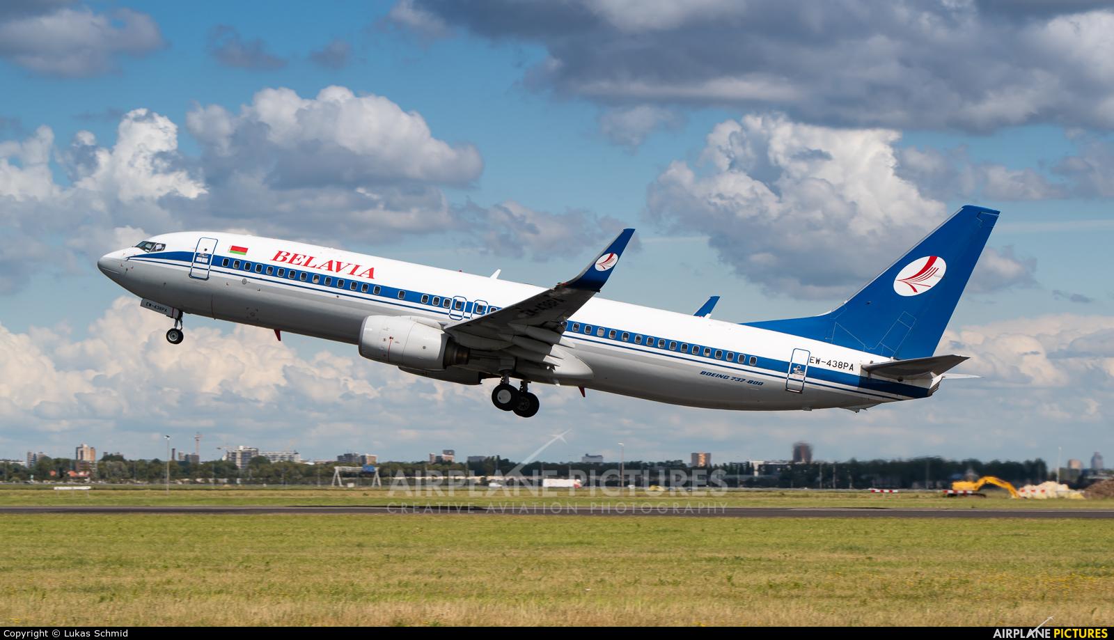 Belavia EW-438PA aircraft at Amsterdam - Schiphol