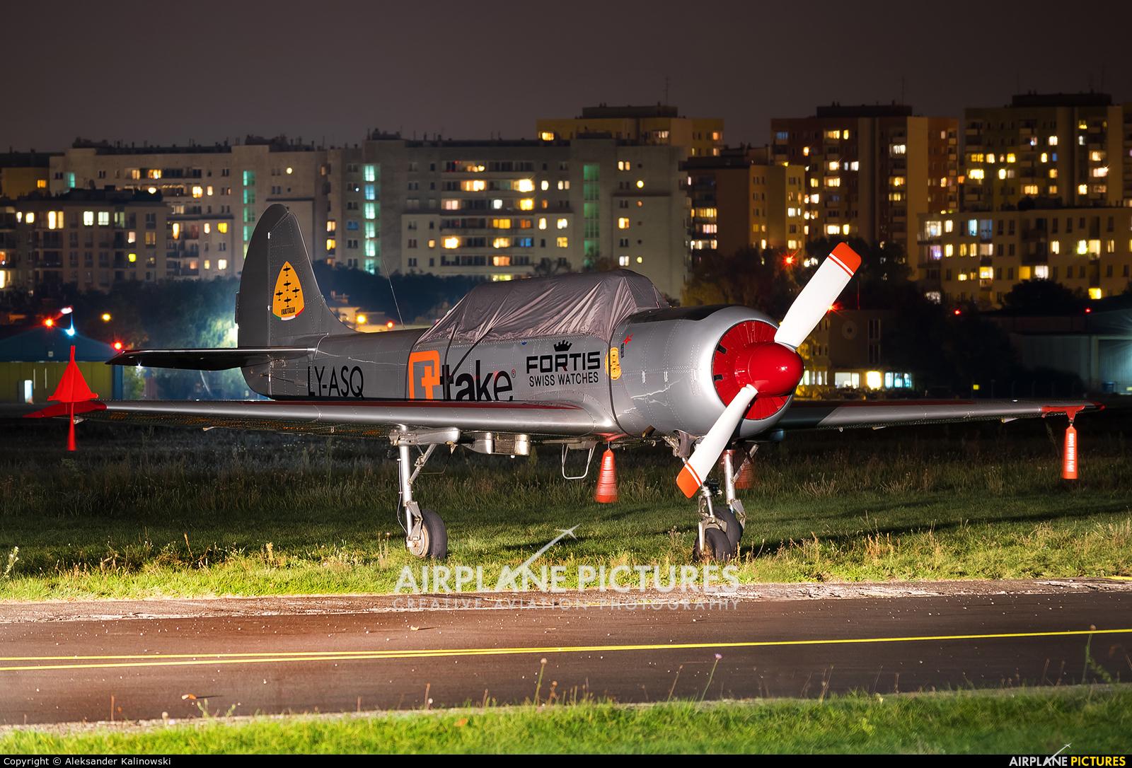 Private LY-ASQ aircraft at Warsaw - Babice
