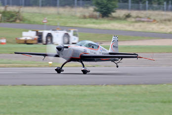 "G-ZXEL - 2 Excel Aviation ""The Blades Aerobatic Team"" Extra 300L, LC, LP series"