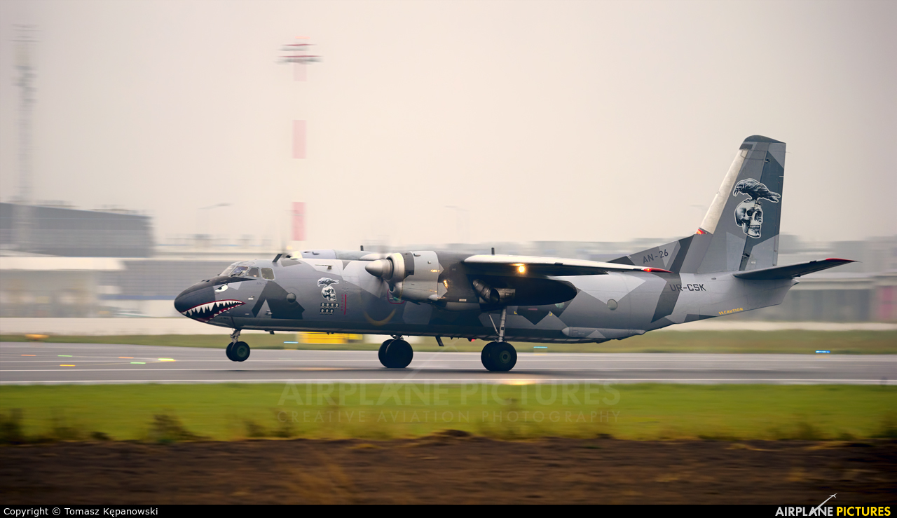 Eleron UR-CSK aircraft at Rzeszów-Jasionka