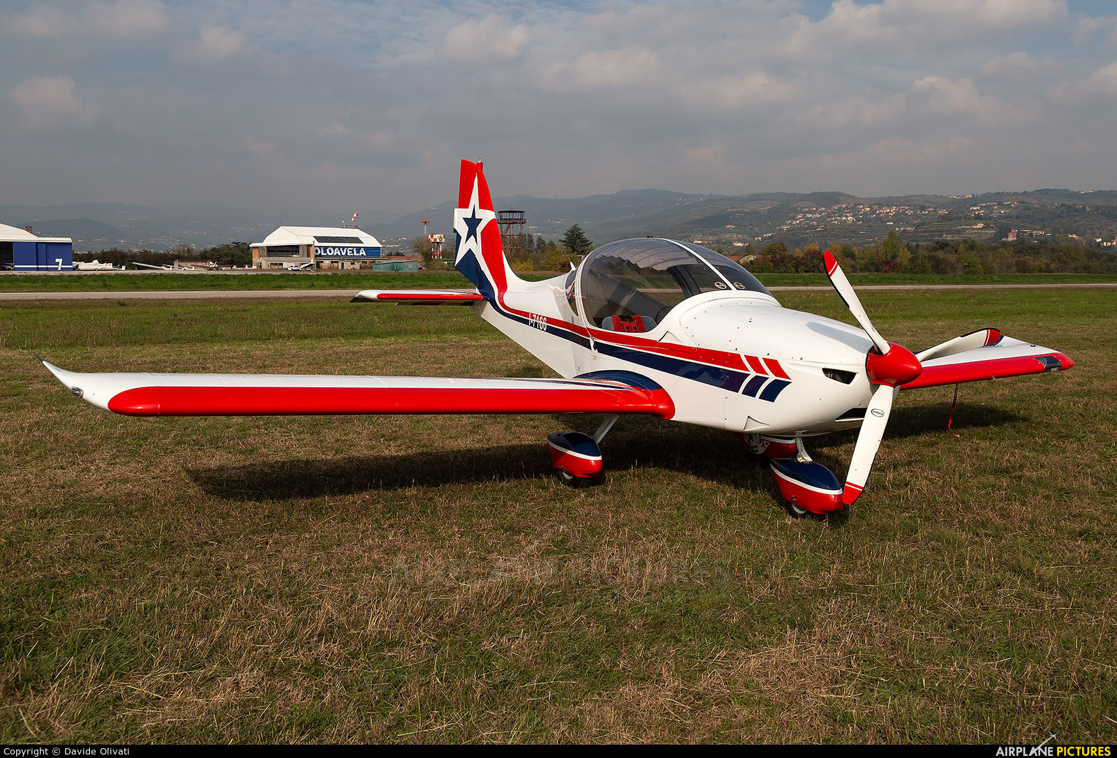 Private I-7166 aircraft at Verona - Boscomantico