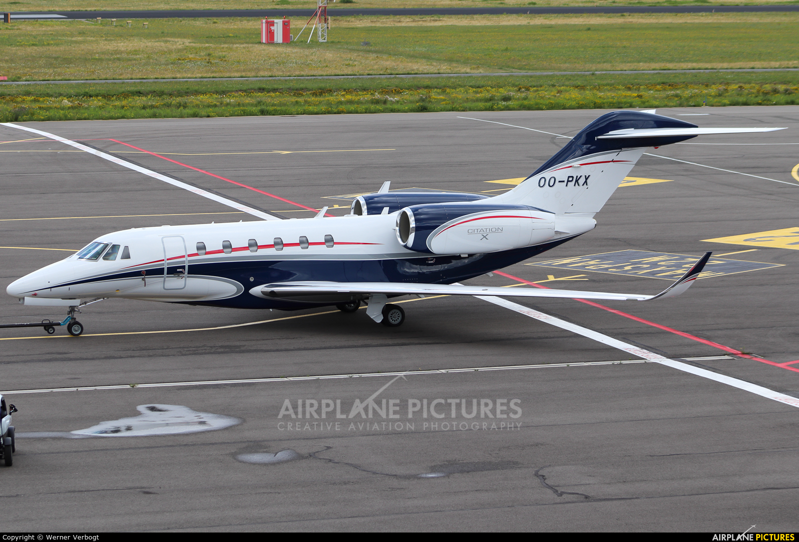 Air Service Liege OO-PKX aircraft at Eindhoven