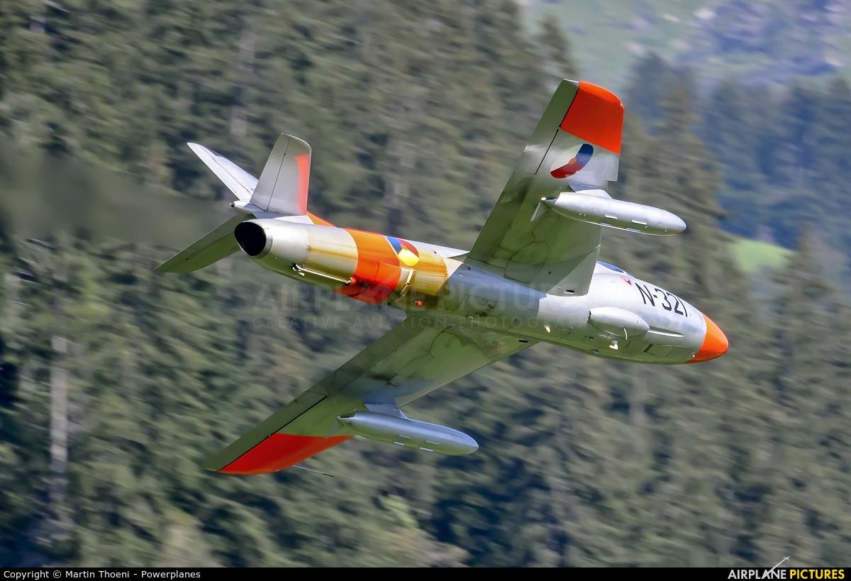 Dutch Hawker Hunter Foundation G-BWGL aircraft at St. Stephan