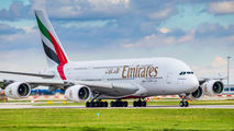 A6-EDZ - Emirates Airlines Airbus A380 aircraft