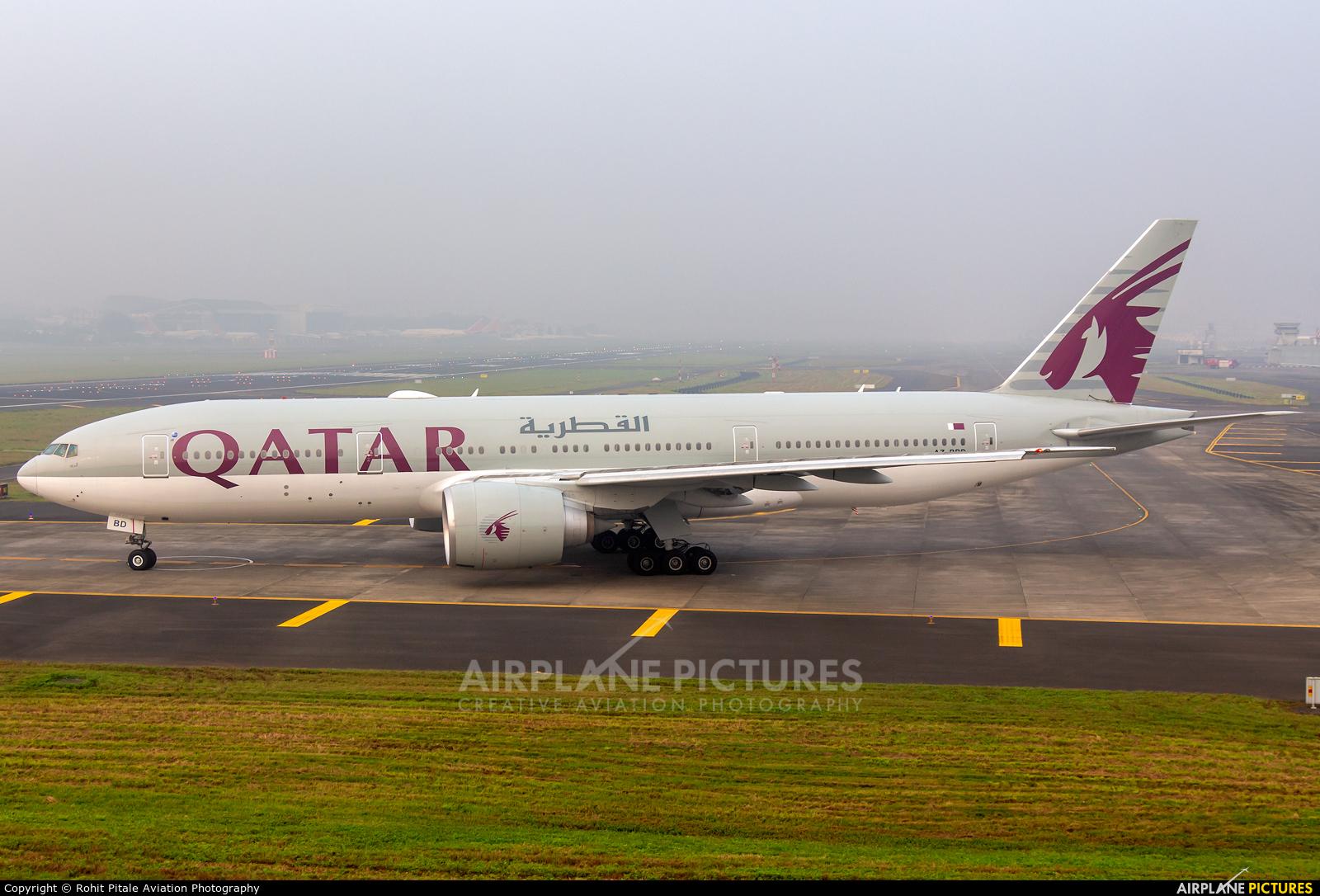 Qatar Airways A7-BBD aircraft at Mumbai - Chhatrapati Shivaji Intl