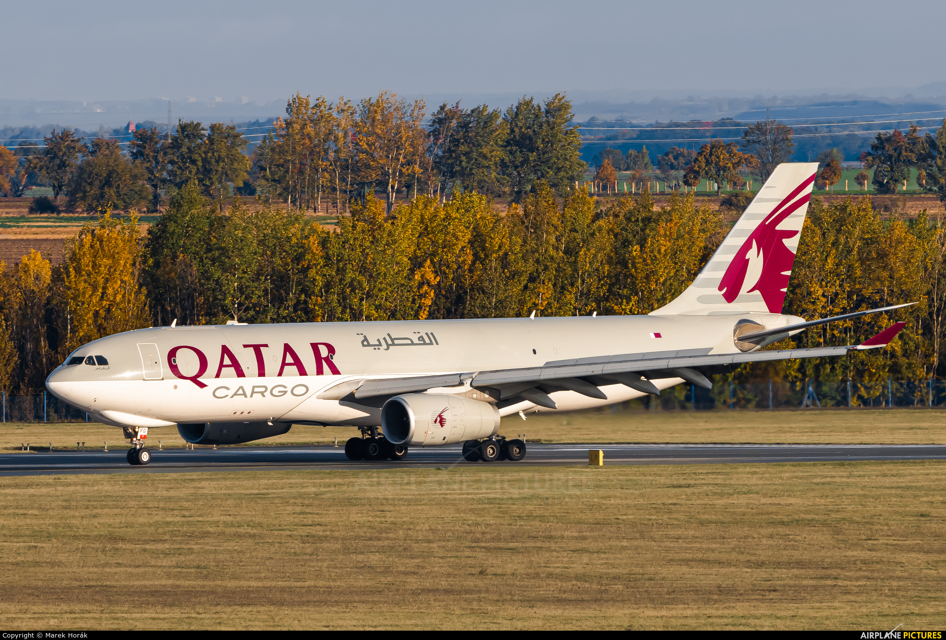 Qatar Airways Cargo A7-AFG aircraft at Prague - Václav Havel