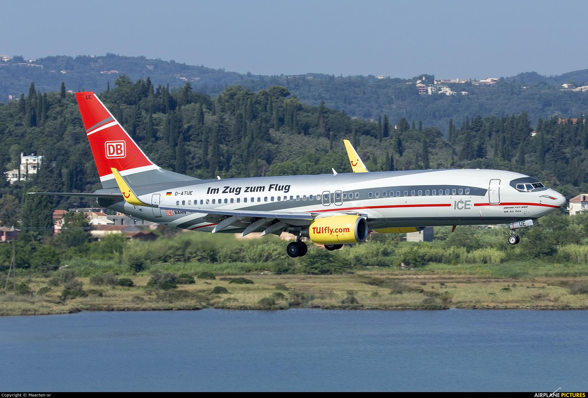 TUIfly D-ATUE aircraft at Corfu - Ioannis Kapodistrias