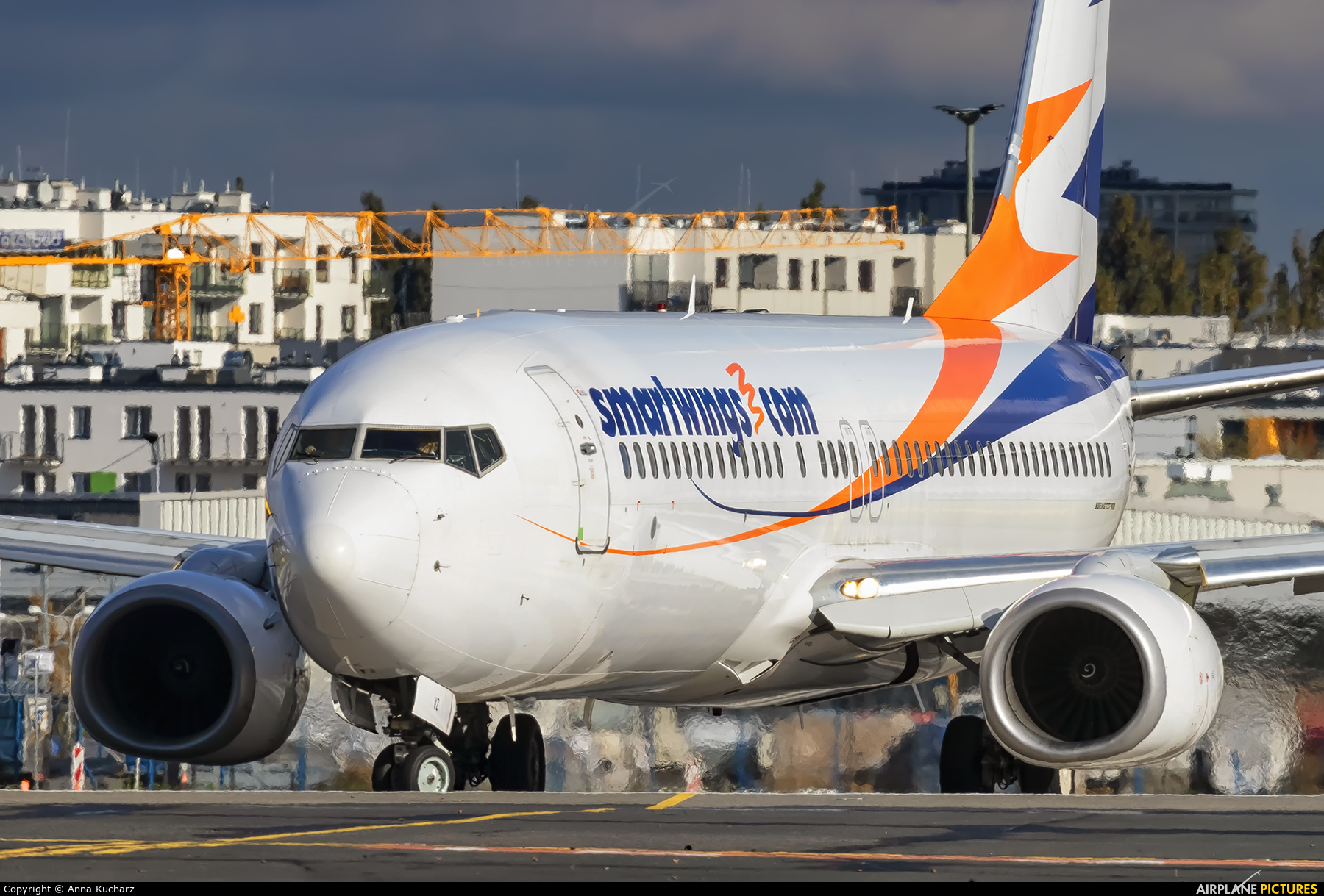 SmartWings SP-TVZ aircraft at Warsaw - Frederic Chopin