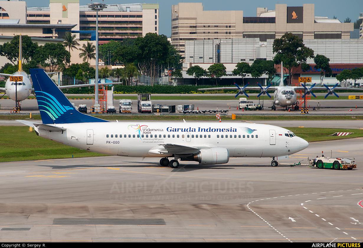 Garuda Indonesia PK-GGO aircraft at Singapore - Changi