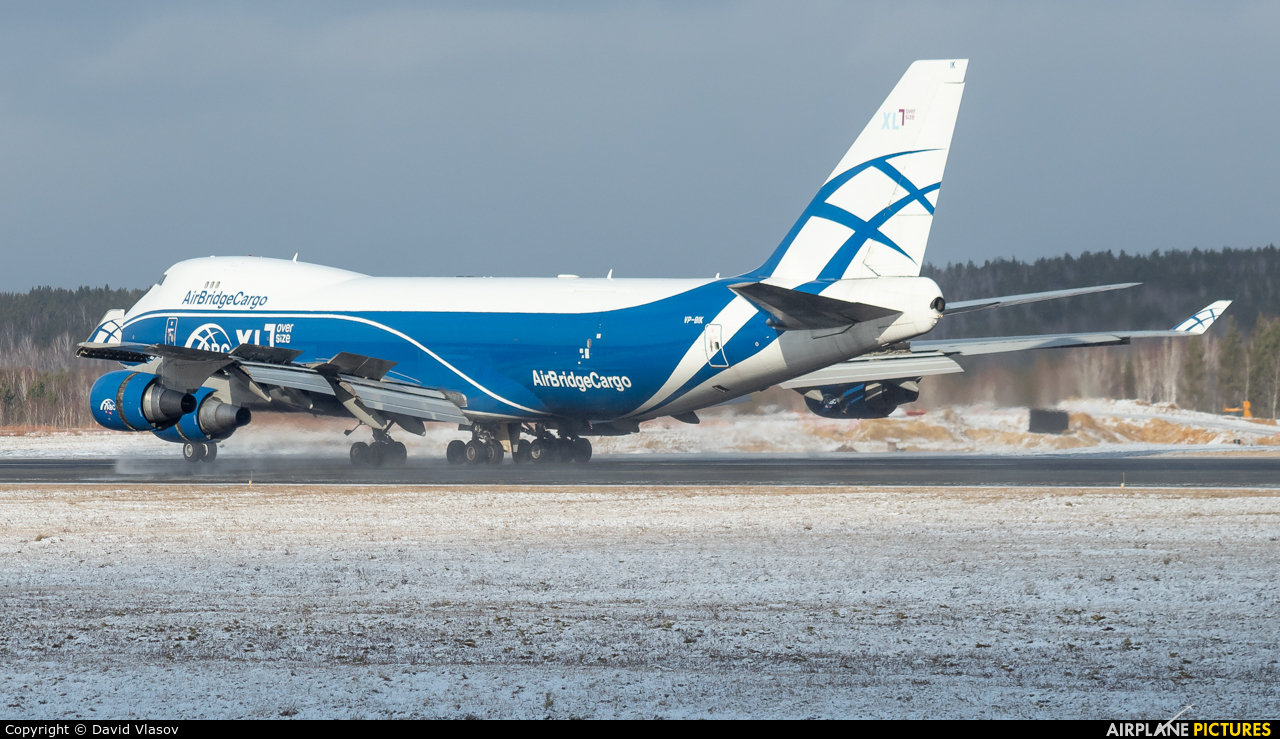 Air Bridge Cargo VP-BIK aircraft at Krasnoyarsk - Yemelyanovo