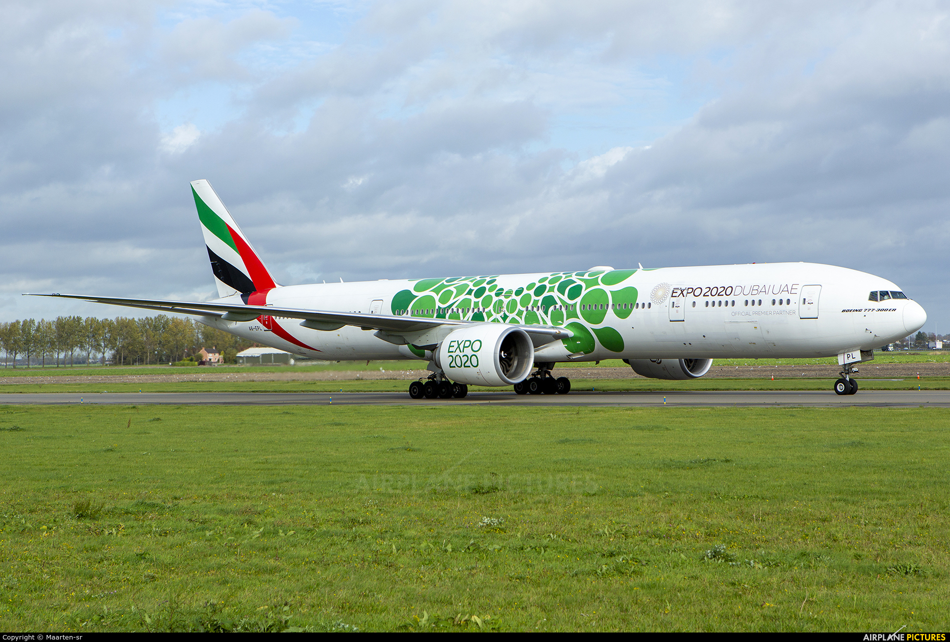 Emirates Airlines A6-EPL aircraft at Amsterdam - Schiphol