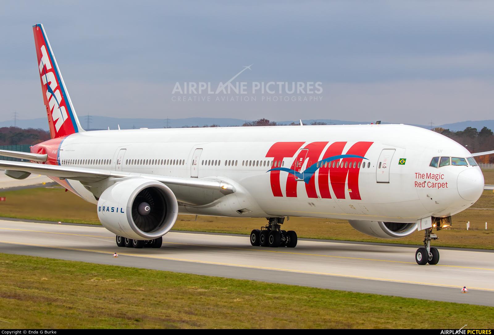 LATAM Brasil PT-MUI aircraft at Frankfurt