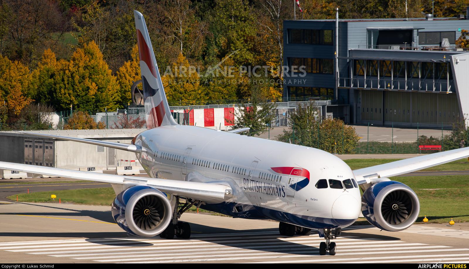 British Airways G-ZBJJ aircraft at Zurich
