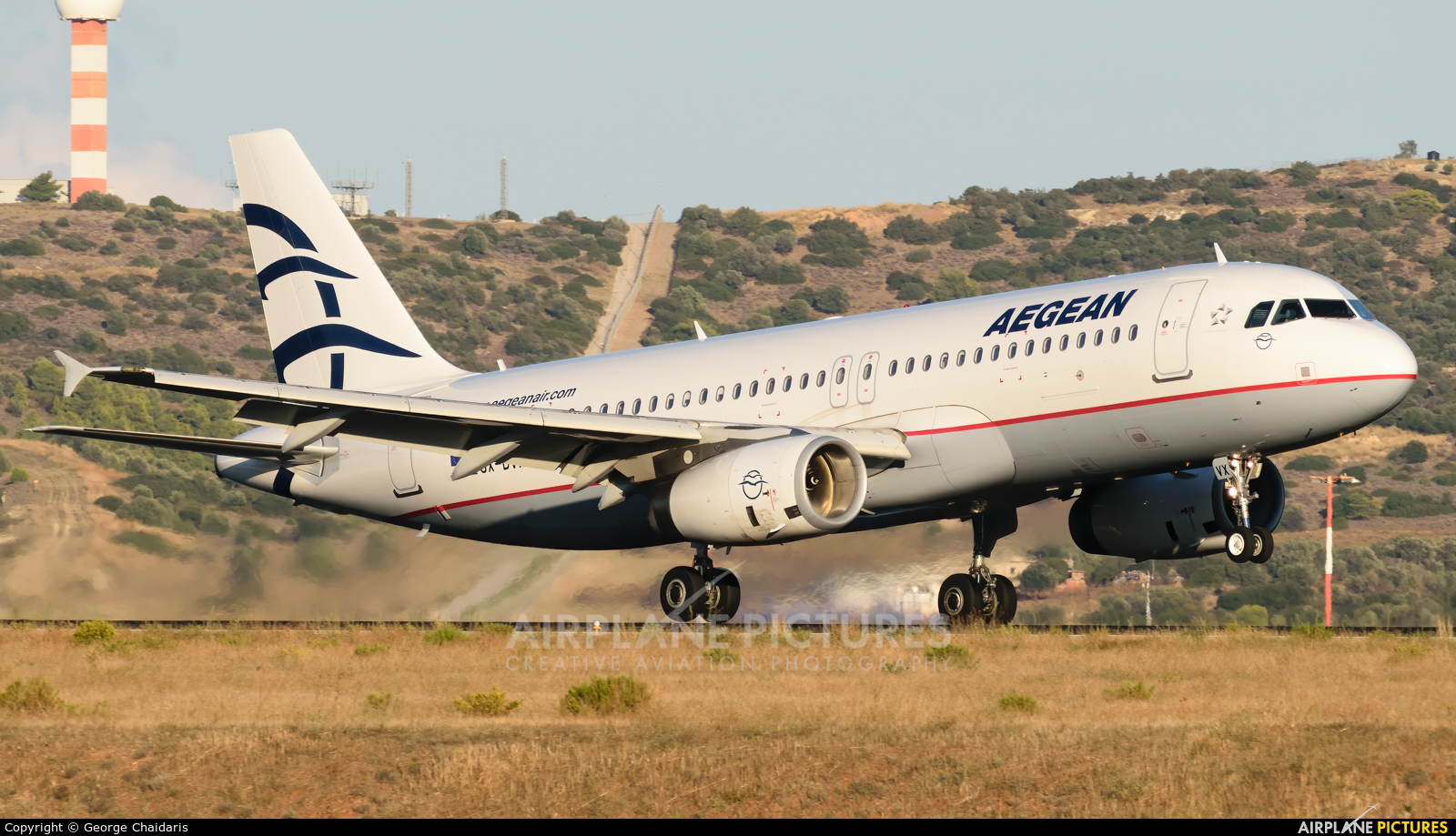 Aegean Airlines SX-DVX aircraft at Athens - Eleftherios Venizelos