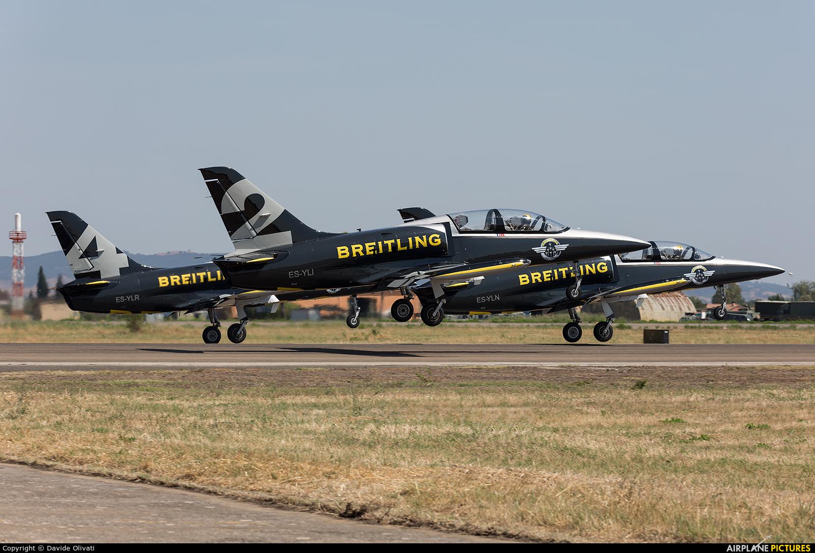 Breitling Jet Team ES-YLI aircraft at Grosseto - Corrado Baccarini