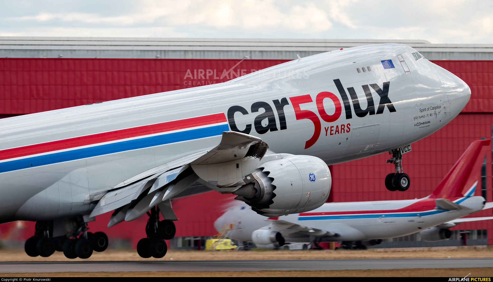 Cargolux LX-VCC aircraft at Luxembourg - Findel
