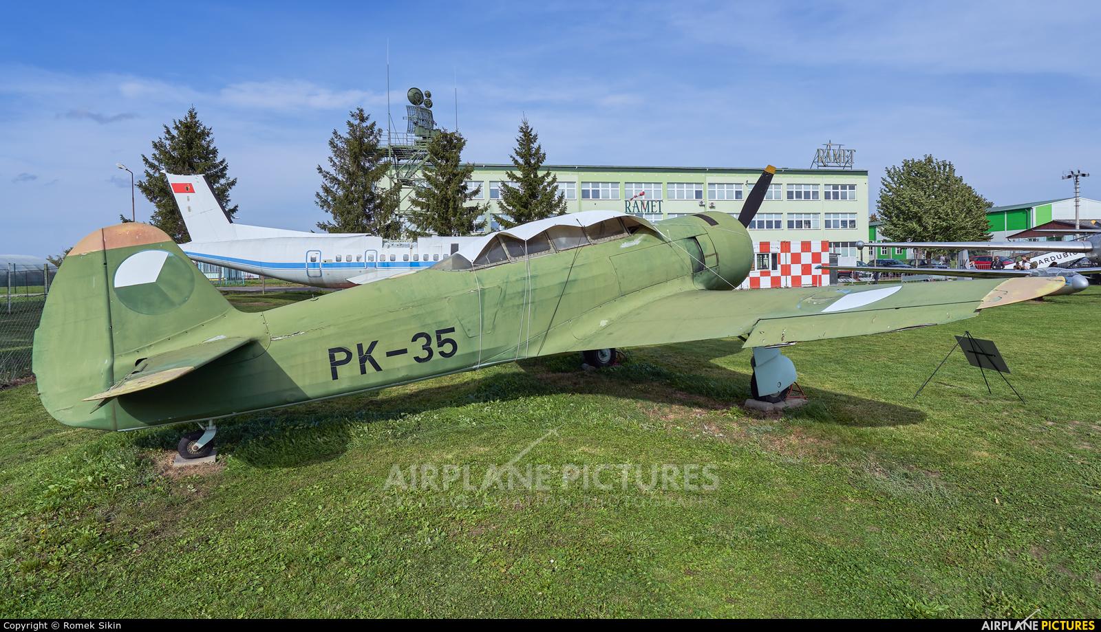 Czechoslovak - Air Force PK-35 aircraft at Uherské Hradiště - Kunovice
