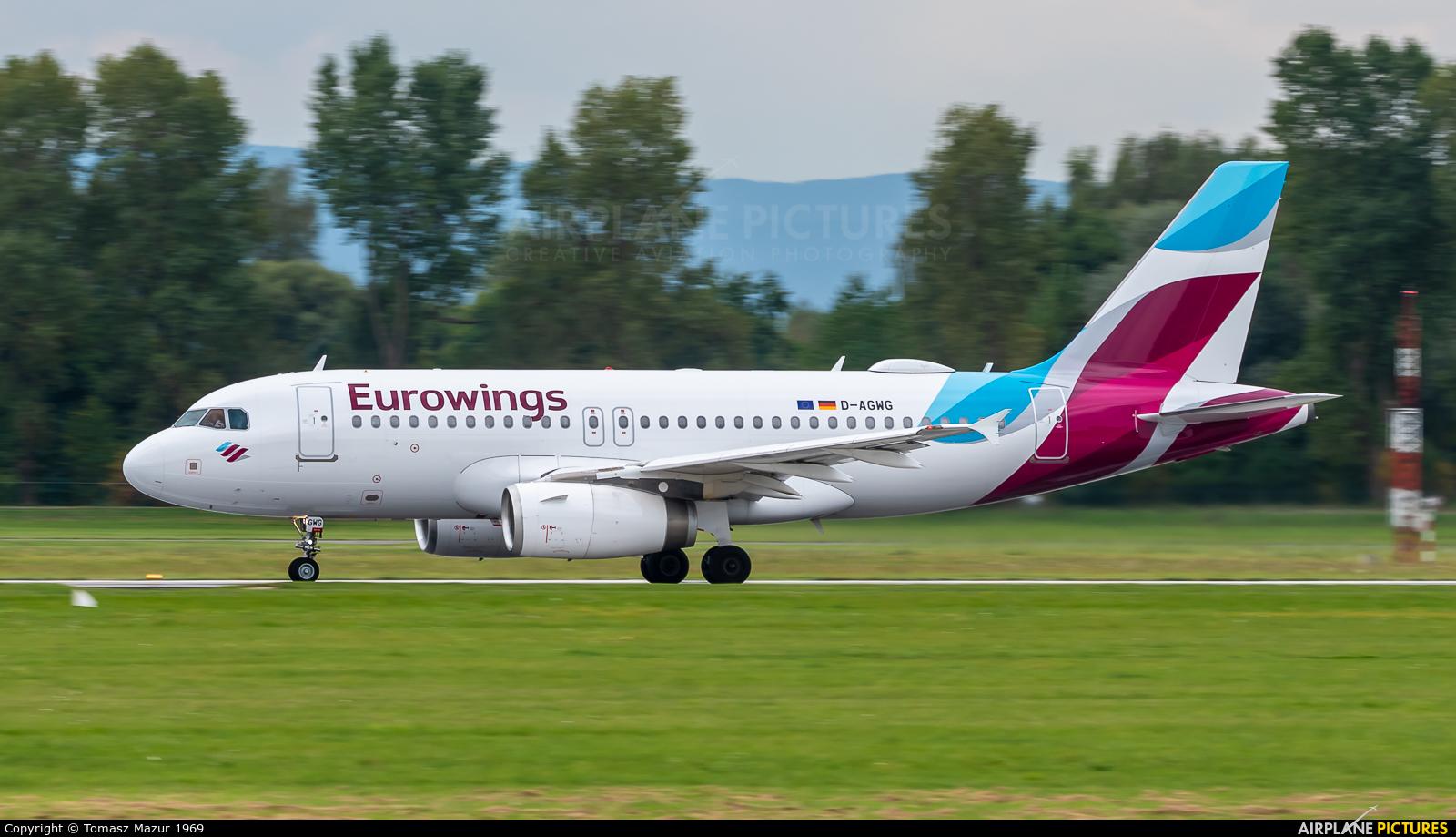 Germanwings D-AGWG aircraft at Kraków - John Paul II Intl