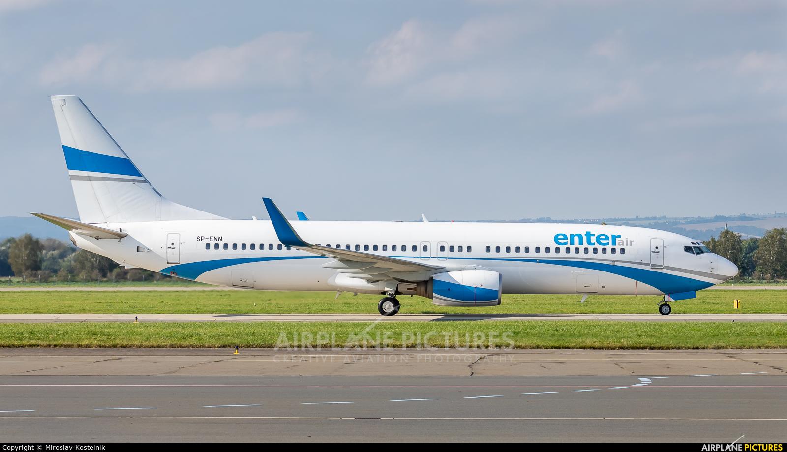 Enter Air SP-ENN aircraft at Ostrava Mošnov